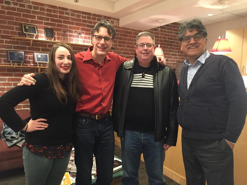 'Week in Review' panel Sydney Brownstone, Bill Radke, Chris Vance and Sherman Alexie.