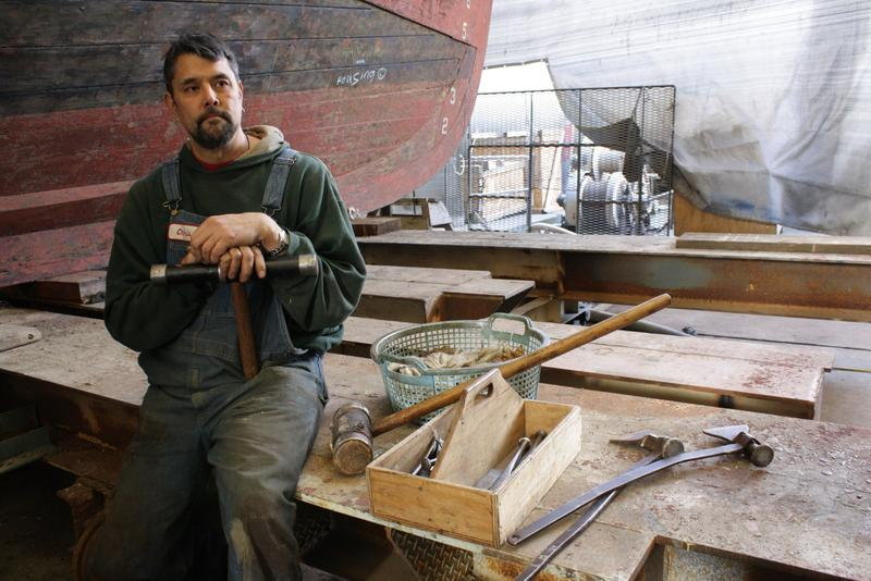 Chris Woodard of the Pacific Fishermen Shipyard, is a caulker, not a corker.