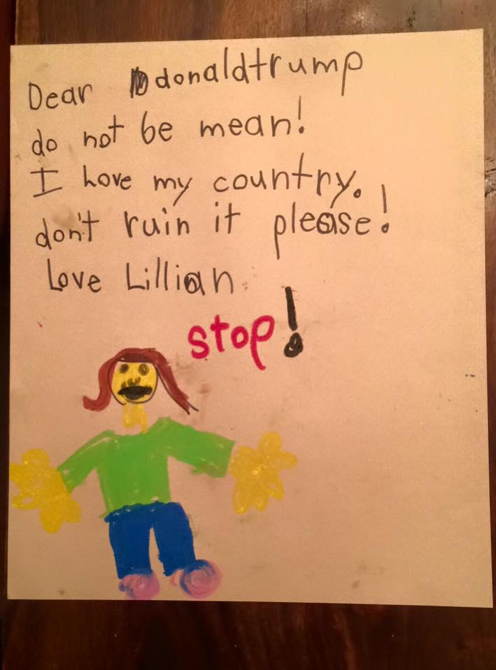 kids are writing letters to president elect trump
