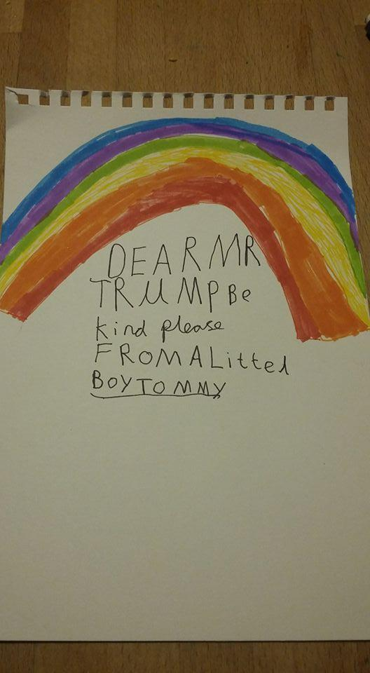 Kids are writing letters to president-elect Trump