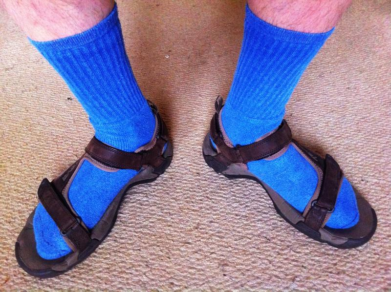 Socks and sandals, a true Northwest fashion symbol