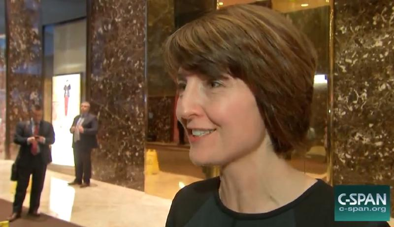 Rep. Cathy McMorris Rodgers of Spokane at Trump Tower on Monday