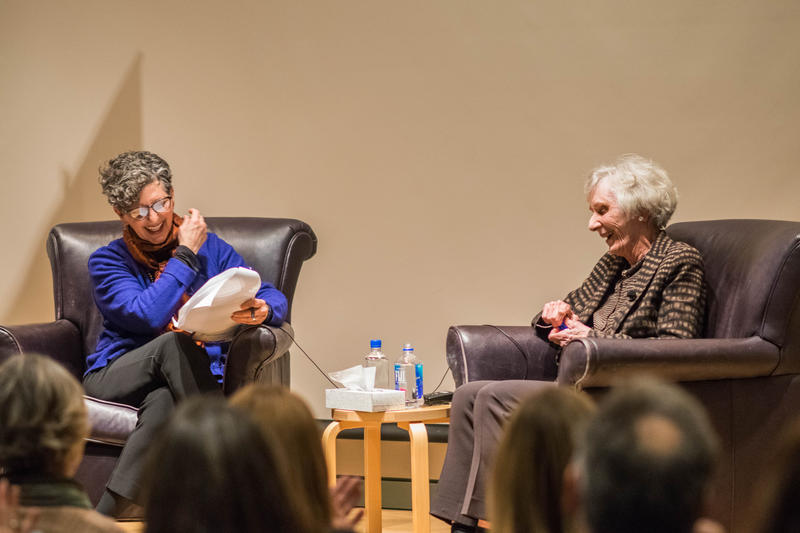 Marcie Sillman and Virginia Wright at SAM on Dec. 1, 2016.
