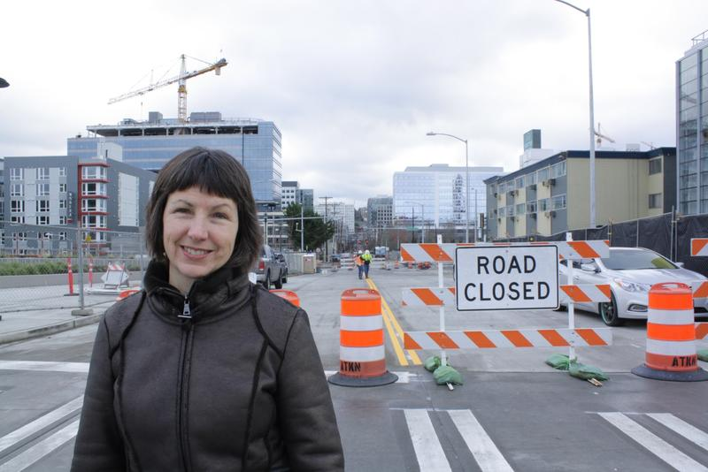 Deborah Daoust of Seattle Center says when Harrison Street busts through Aurora in 2019, it'll be much easier for people to get from South Lake Union to the Seattle Center. Thomas and John streets will also break through later.