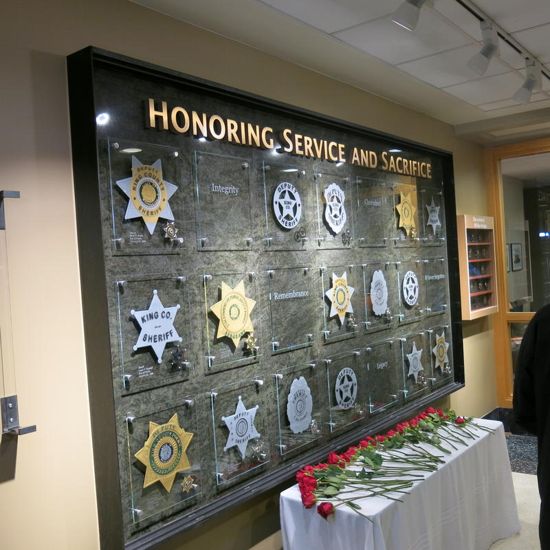 New memorial for King County Sheriff's Officers who died while serving.