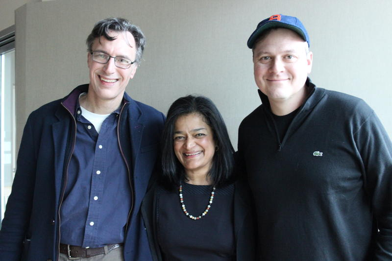 'Week in Review' panel Bill Radke, Pramila Jayapal and Luke Burbank. Not pictured: Michael Baumgartner