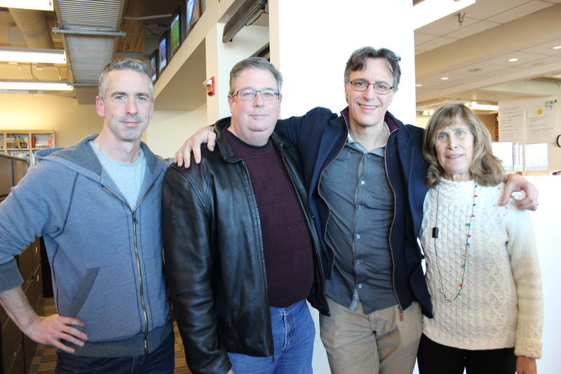 'Week in Review' panel Dan Savage, Chris Vance, Bill Radke and Joni Balter.