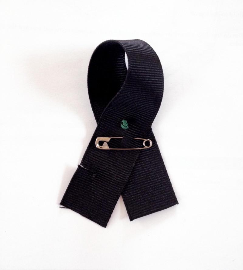 A ribbon of resistance by Ellen Sollod.