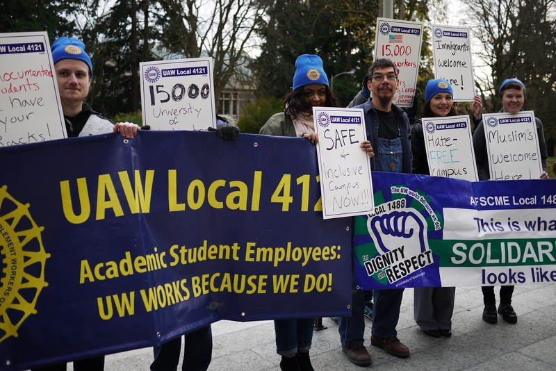 UW unions call for stronger campus protections for immigrants.