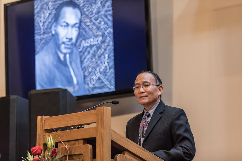 Seattle Colleges Chancellor Shouan Pan at Mt. Zion Baptist Church