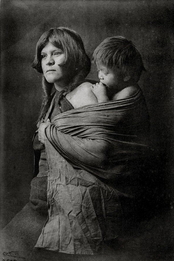 A Hopi mother, 1922. This image comes from The North American Indian by Edward S. Curtis, a Seattle based photographer.