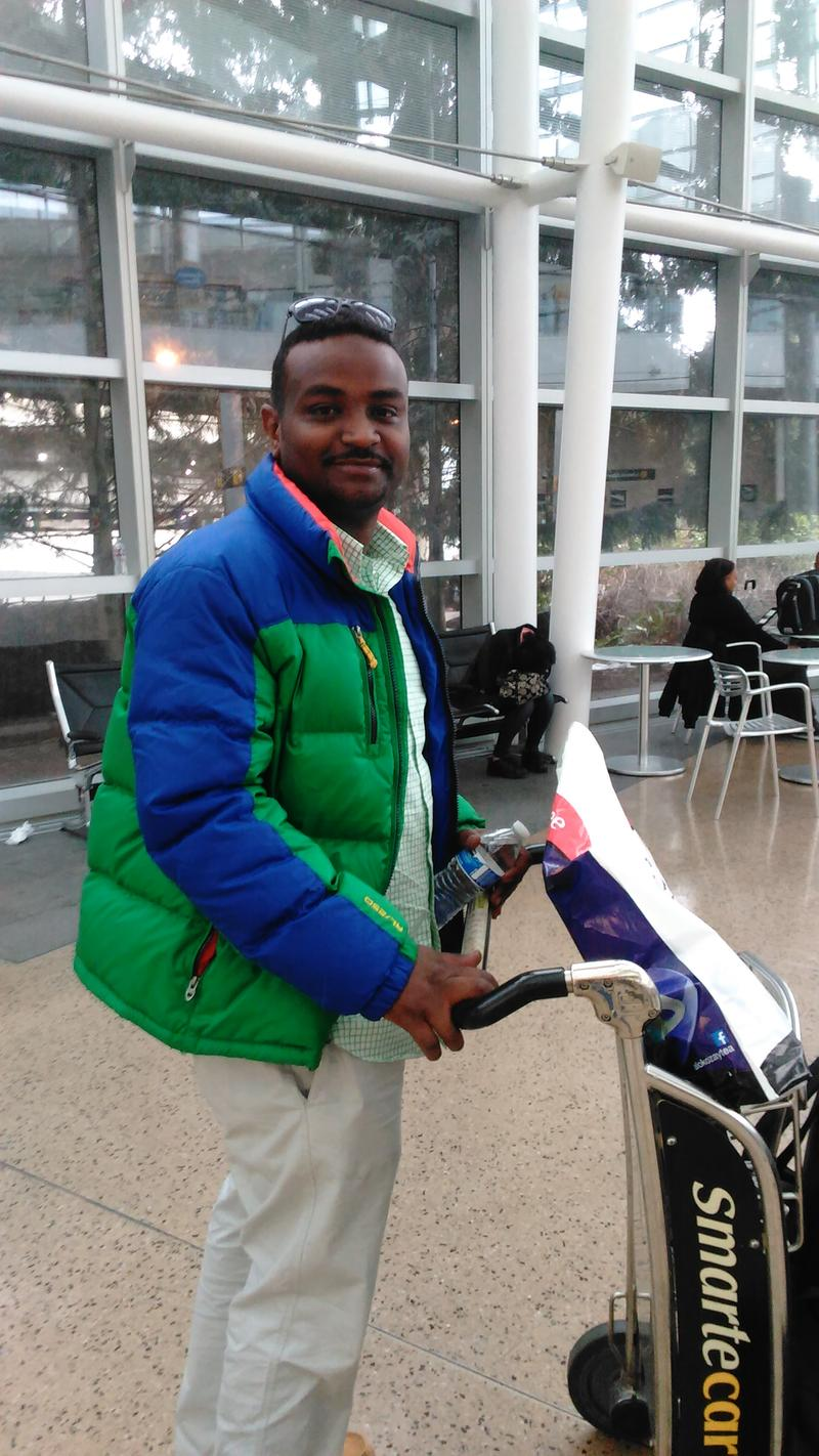Muwafag Gasim, of Sudan and Seattle, was detained for five hours upon return from a family visit. Gasim is a construction engineer in Seattle.