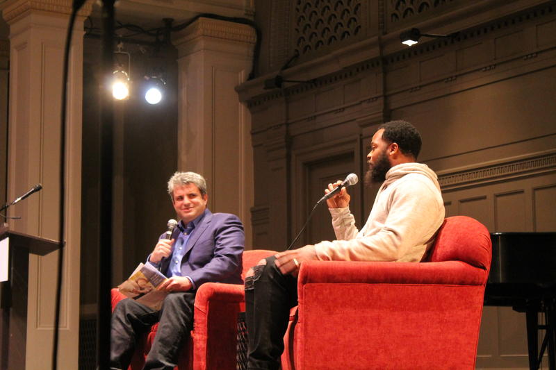 Dave Zirin and Michael Bennett at Town Hall Seattle
