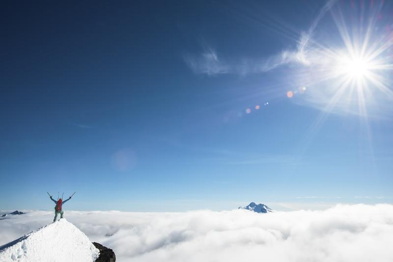 One of Jason Hummel's photographs of the Fortress Mountain summit.