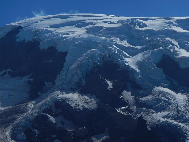 "The retreating Lyman Glacier on Mt. Adams. Washington Gov. Jay Inslee said White House ""foolishness"" wouldn't deter the state's efforts to slow the pace of global warming."