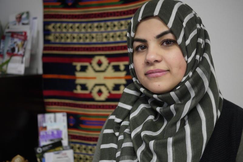 Marwa Sadik, at the Iraqi Community Center in Kent.