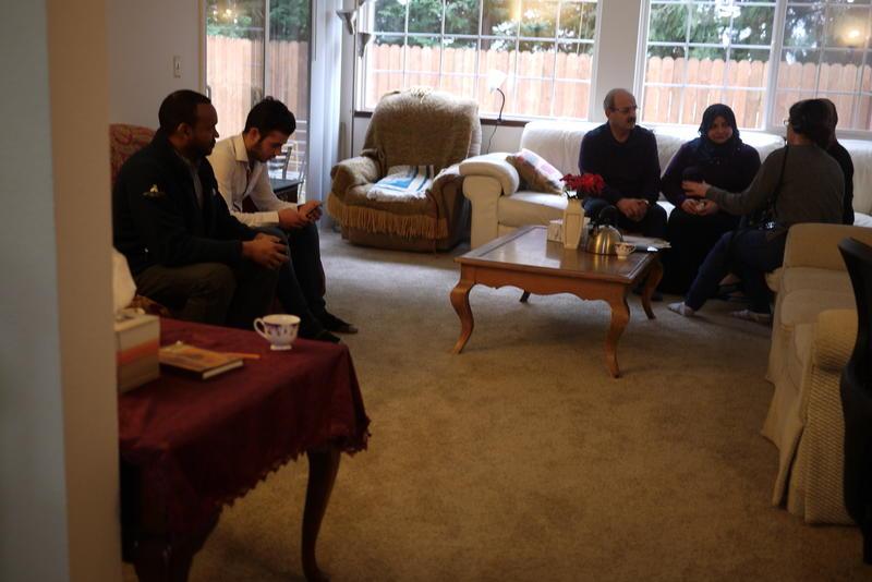 The Al Halabi living room.