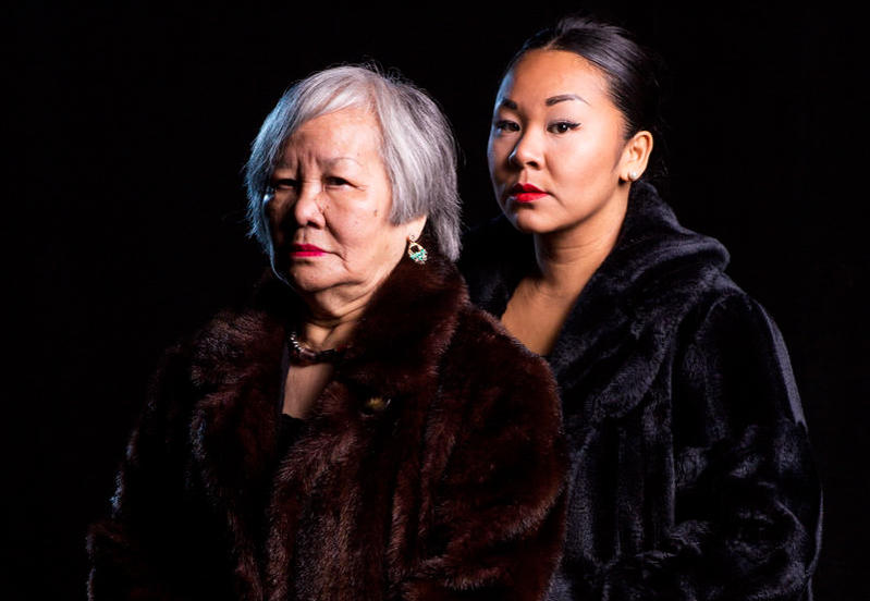 Sara Porkalob, right, and her grandmother, the inspiration for Porkalob's one-woman show Dragon Lady