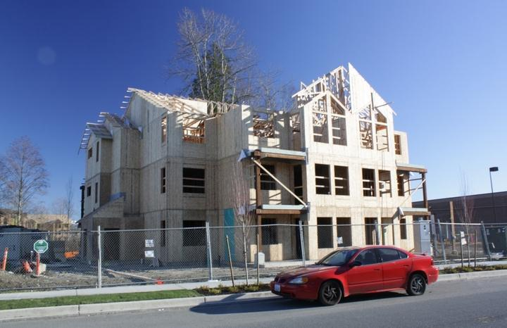 Housing construction in Marysville.