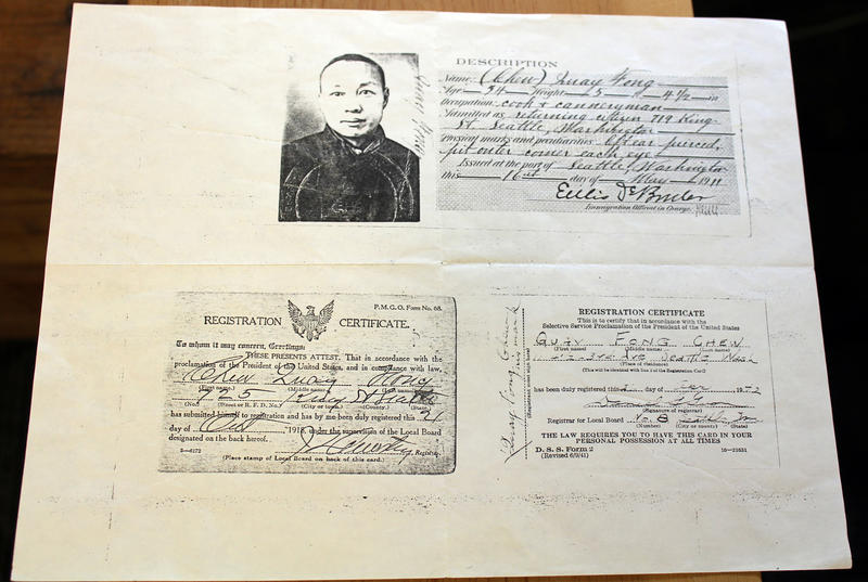 Ron Chew's father hid the grandfather's immigration documents in their basement until near the end of his life.