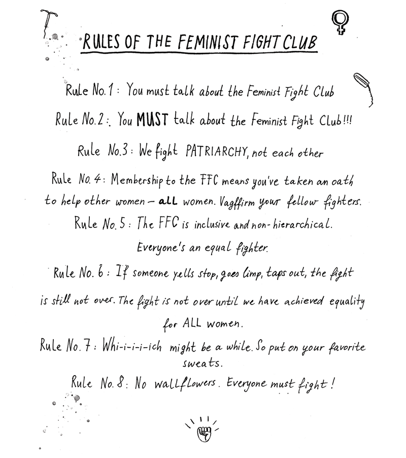 Feminist Fight Club Rules