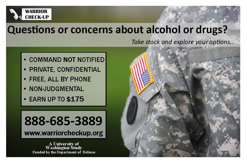 A poster for the study promised confidentiality. Army policy doesn't allow for confidential treatment for substance abuse.