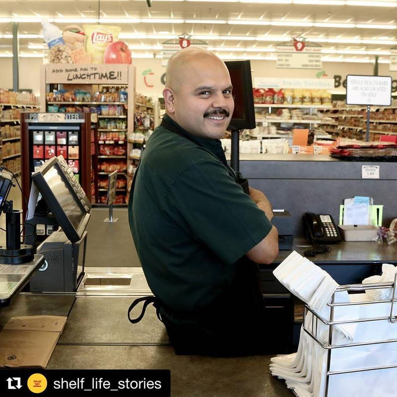 A repost from @shelf_life_stories of a cashier at the Red Apple in Seattle's Central District. Shelf Life Stories call themselves 'a community story project in Seattle's Central District that uses neighborhood stories to interrupt narratives of erasure.'