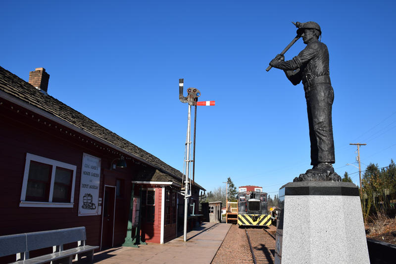 The Black Diamond Museum sits in the town's old railroad depot. Trains no longer run through the city.