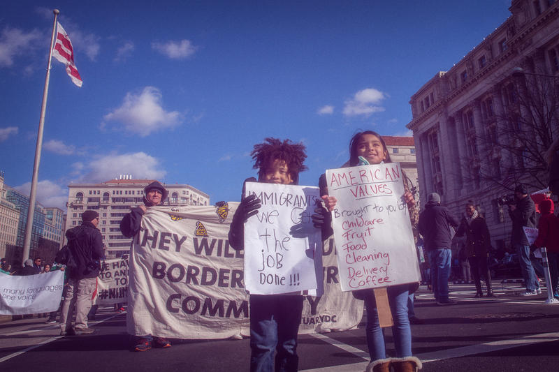 Day Without Immigrants rally in Washington, D.C., February 16, 2017