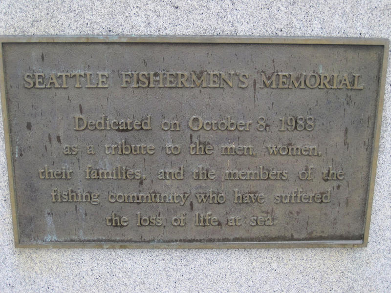 A plaque at the Seattle Fishermen's Memorial.
