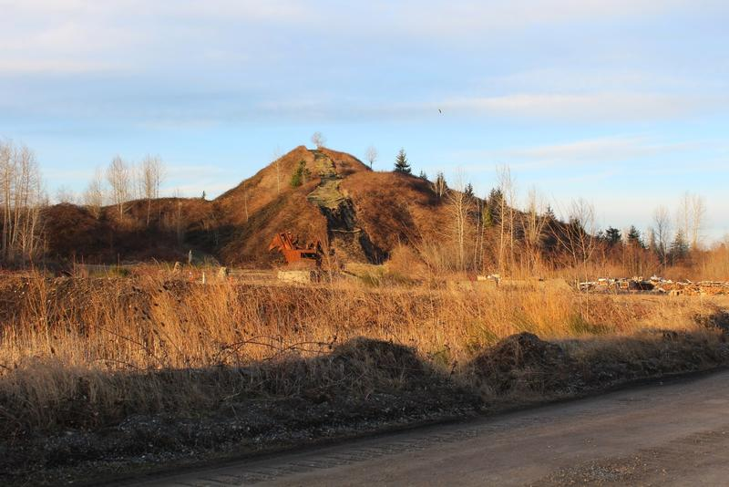 The hill made from coal mining waste is one of the first things you see driving into Black Diamond