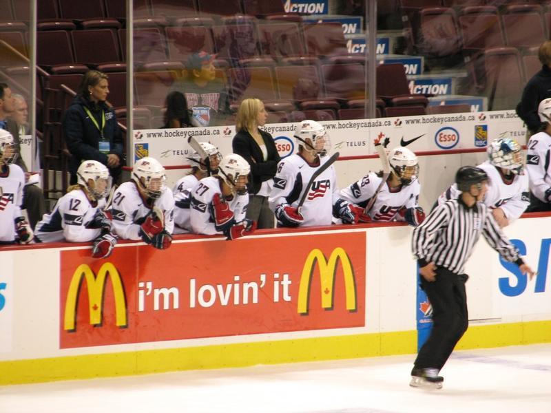 USA Women's Hockey Team vs. Finland