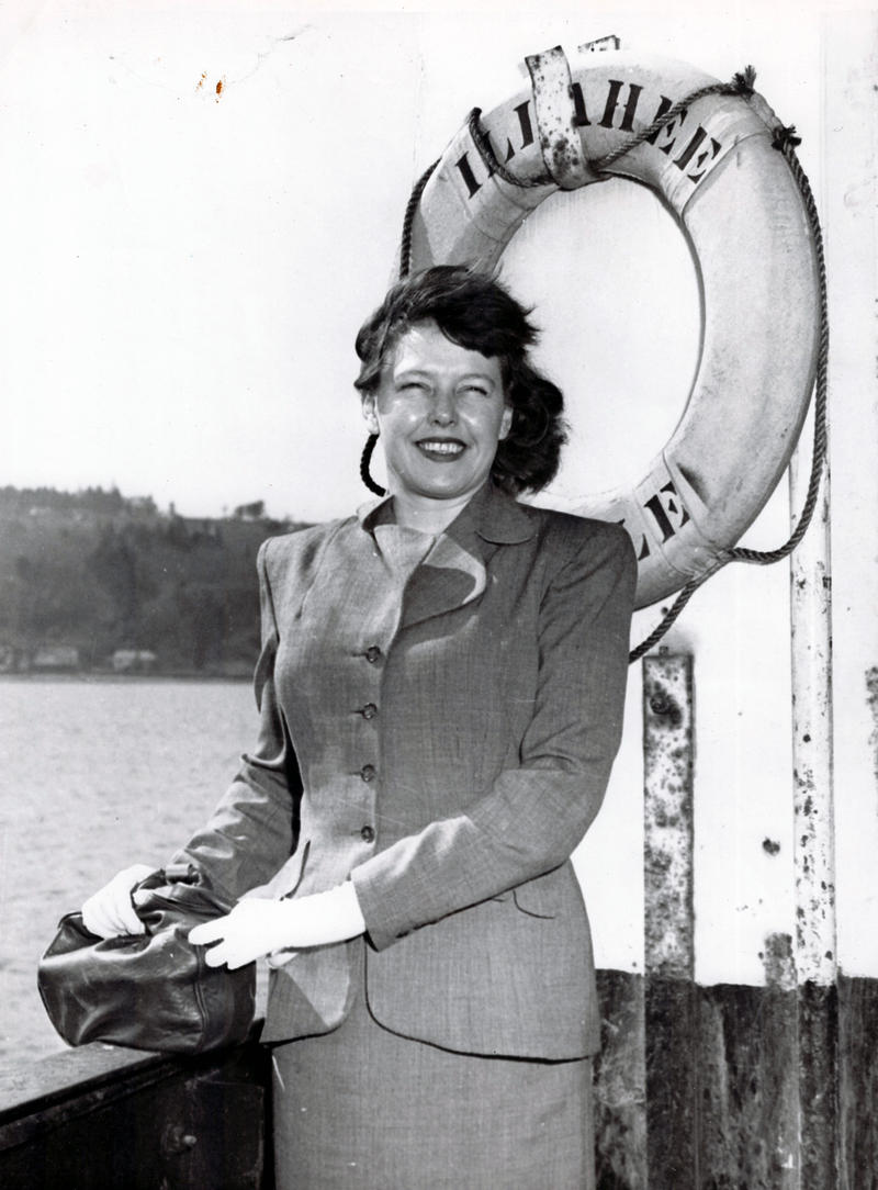 Betty MacDonald on the Illahee Ferry circa 1946