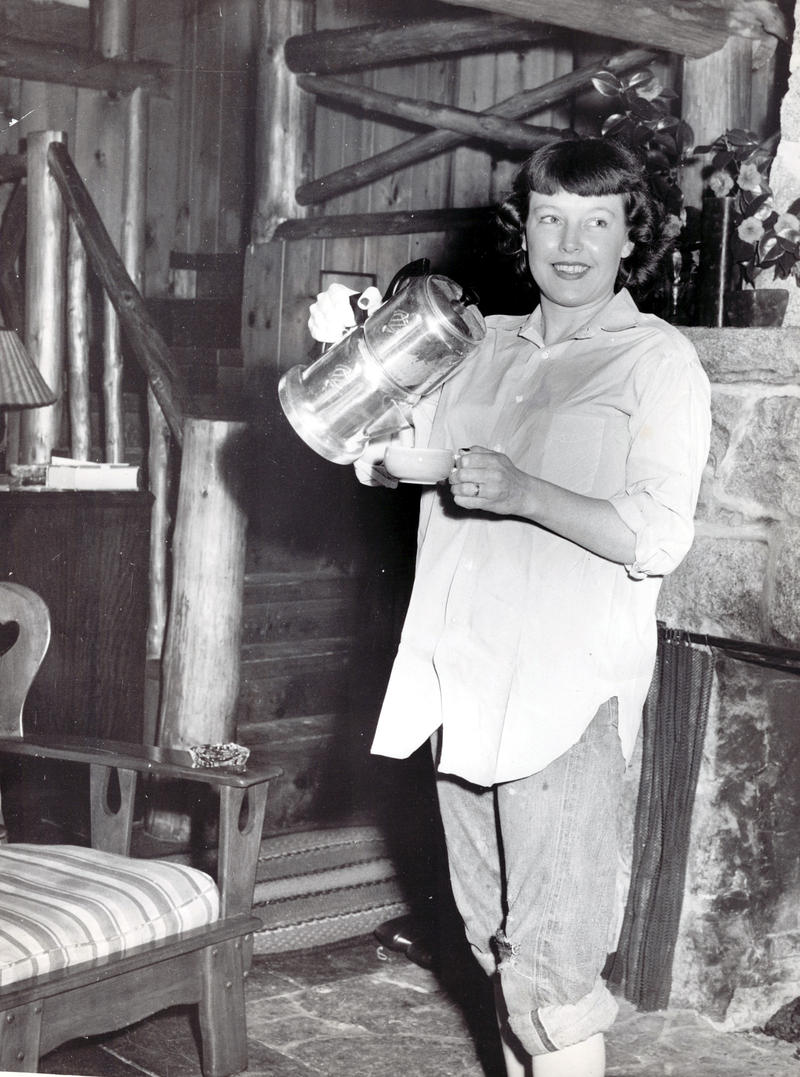 Betty MacDonald at home on Vashon Island circa 1948