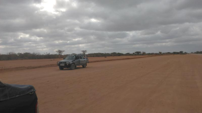 Dadaab refugee camp, Kenya. The area has been deforrested by residents over the past 25 years, it's an arid place