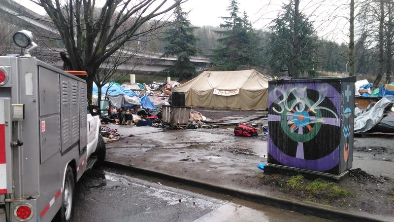 The City of Seattle says this homeless camp is a public health and safety hazard.