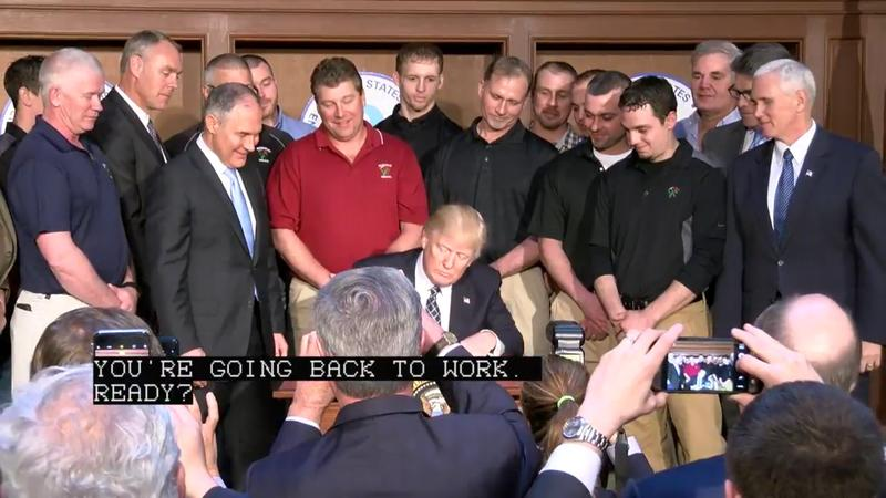President Trump promises coal workers their jobs will come back as he signs an executive order to scale back federal energy regulations.