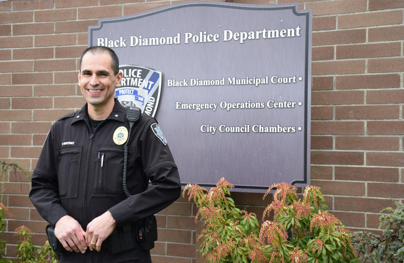 Commander Brian Martinez of the Black Diamond Police Department.
