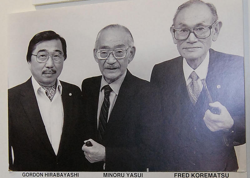 (From left) Gordon Hirabayashi, Minoru Masui, Fred Korematsu all filed legal challenges to the Japanese Internment order