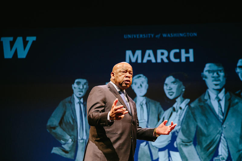 Congressman John Lewis at UW's Meany Hall