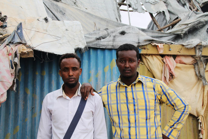 Salam Abdi Hadul and Mohamed Abdi in Dadaab refugee camp