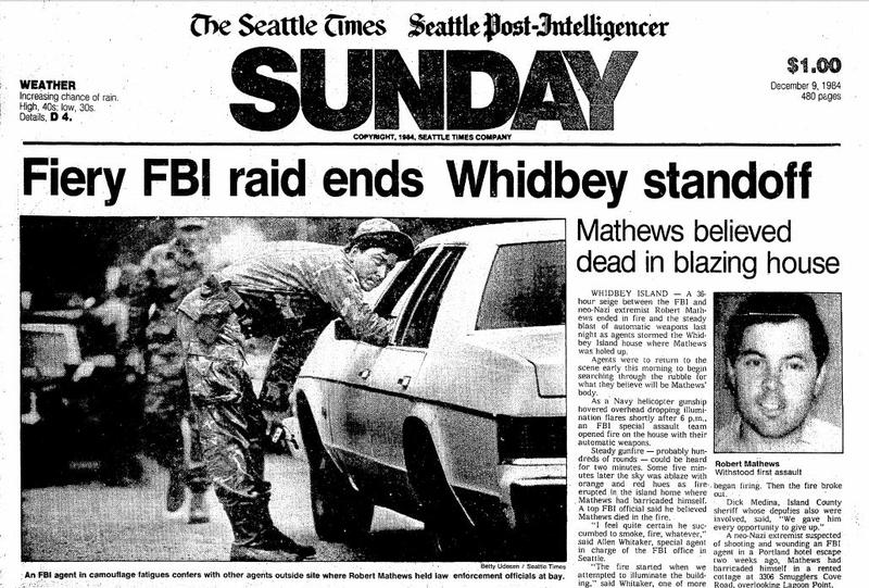 The front page of the Seattle Times - Seattle Post-Intelligencer Sunday edition on Dec. 9, 1984.