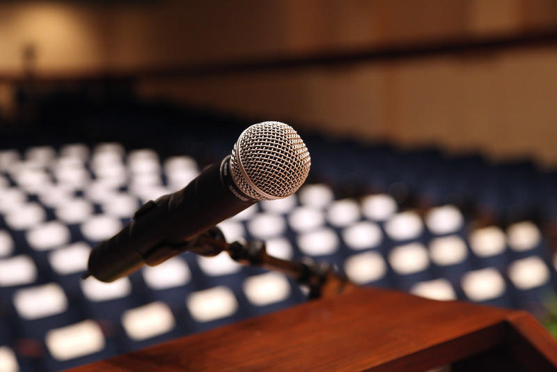 microphone podium