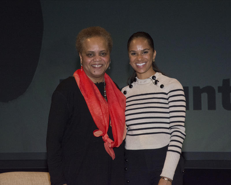 Valerie Curtis-Newton and Misty Copeland at UW's Meany Hall