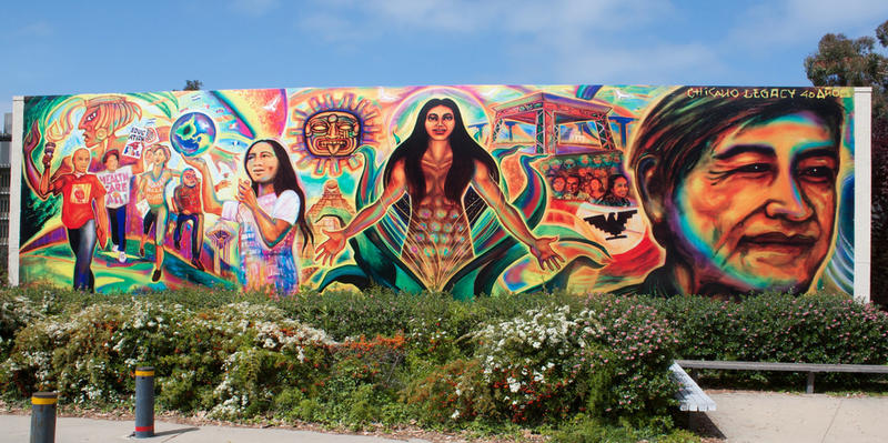A mural celebrating Chicano history at UC San Diego (2010).