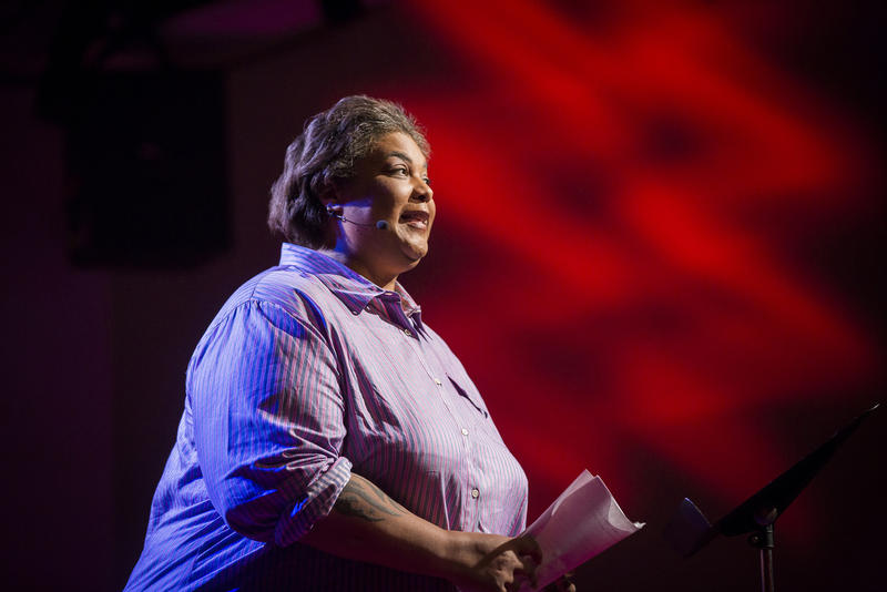 Roxane Gay speaks at TEDWomen2015 - Momentum, May 27-29, 2015, Monterey Conference Center, Monterey, California, USA.