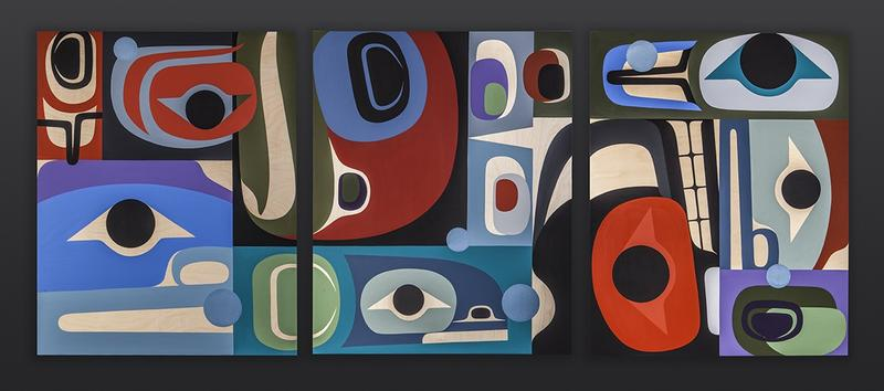 Interconnections, a painting by Dlakwagila, also known as Steve Smith
