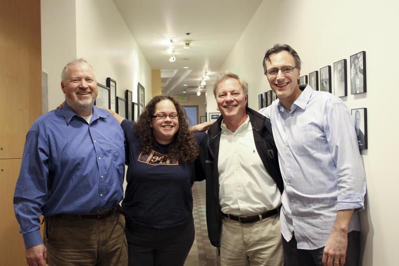 From L-R: Mike McGinn, Phyllis Fletcher, John Carlson and Bill Radke