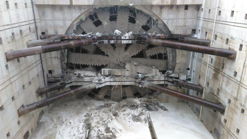 Bertha's massive cutter head breaks through the final barrier