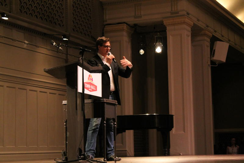 Chris Hayes on stage at Town Hall Seattle